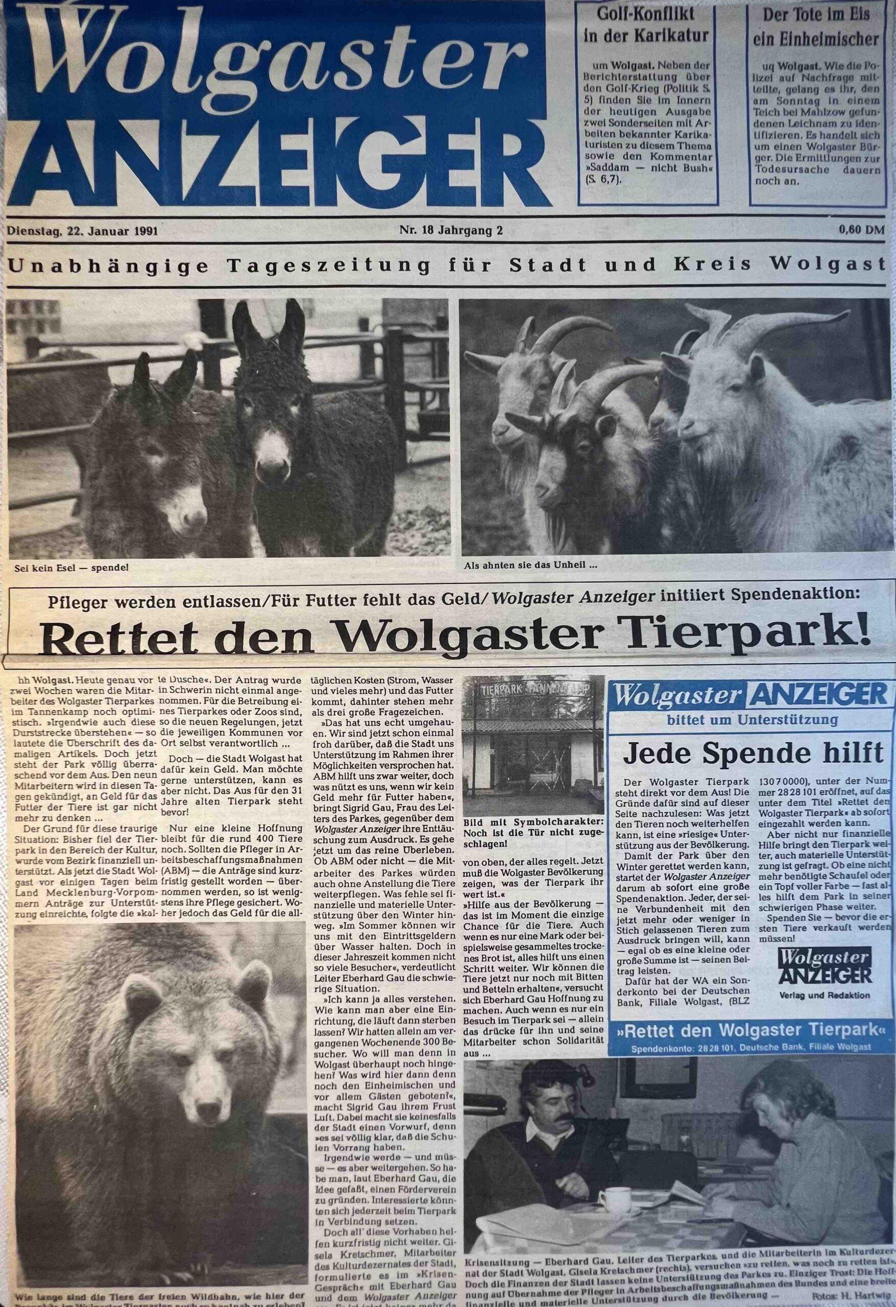 """Die Tierpark-Rettung und kleine Waschbär """"Holgi"""""""